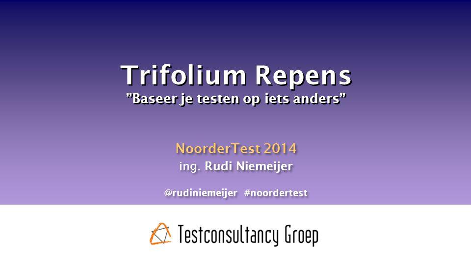 Trifolium Repens Baseer je testen op iets anders NoorderTest 2014 ing.