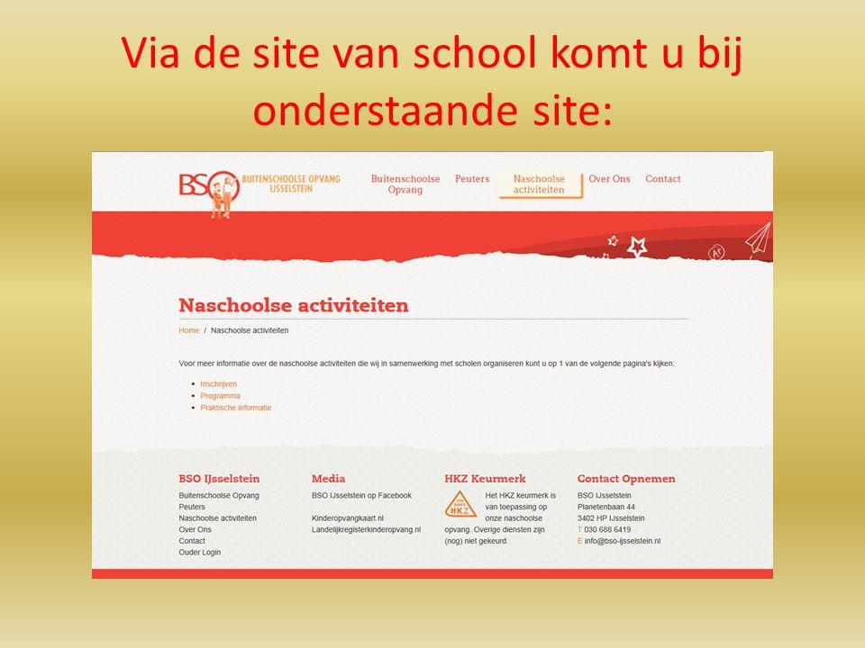 Via de site van school komt u bij onderstaande site:
