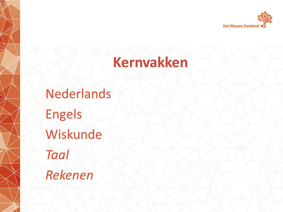 Kernvakken Nederlands Engels Wiskunde Taal Rekenen