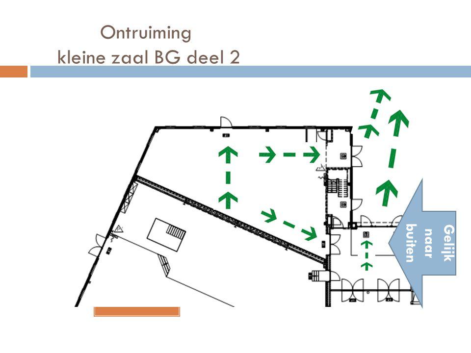 Ontruiming kleine zaal BG deel 2 Gelijk naar buiten