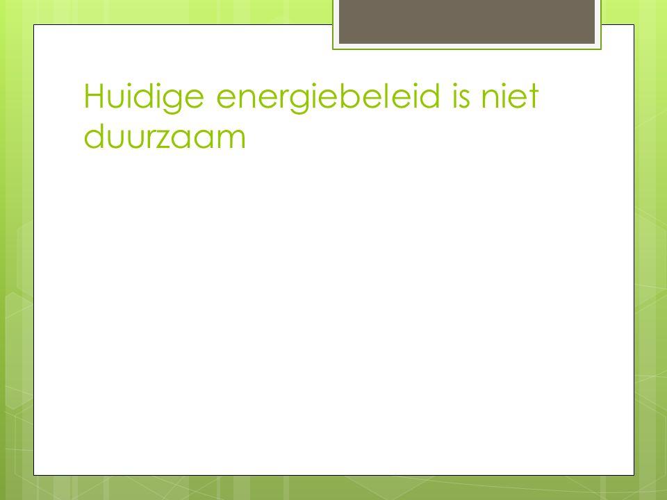 Huidige energiebeleid is niet duurzaam