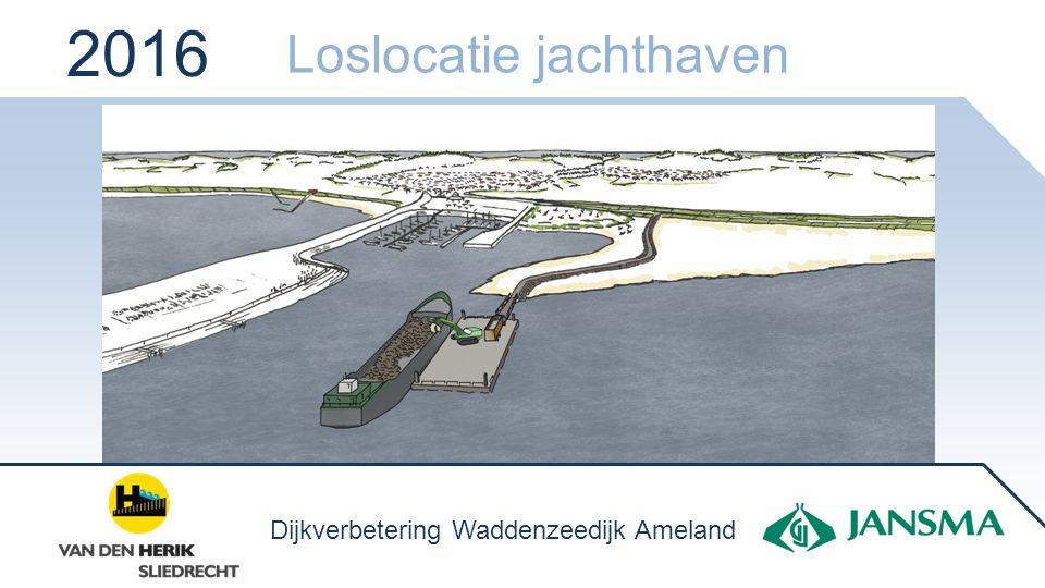2016 Loslocatie jachthaven Dijkverbetering Waddenzeedijk Ameland