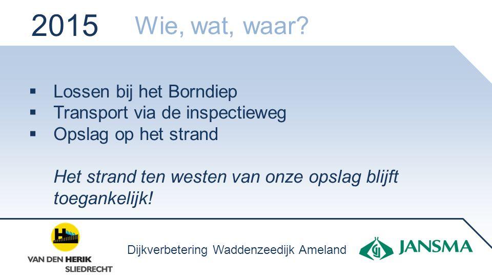Werkzaamheden ten westen Werkzaamheden ten oosten 2017 Verkeersveiligheid Dijkverbetering Waddenzeedijk Ameland