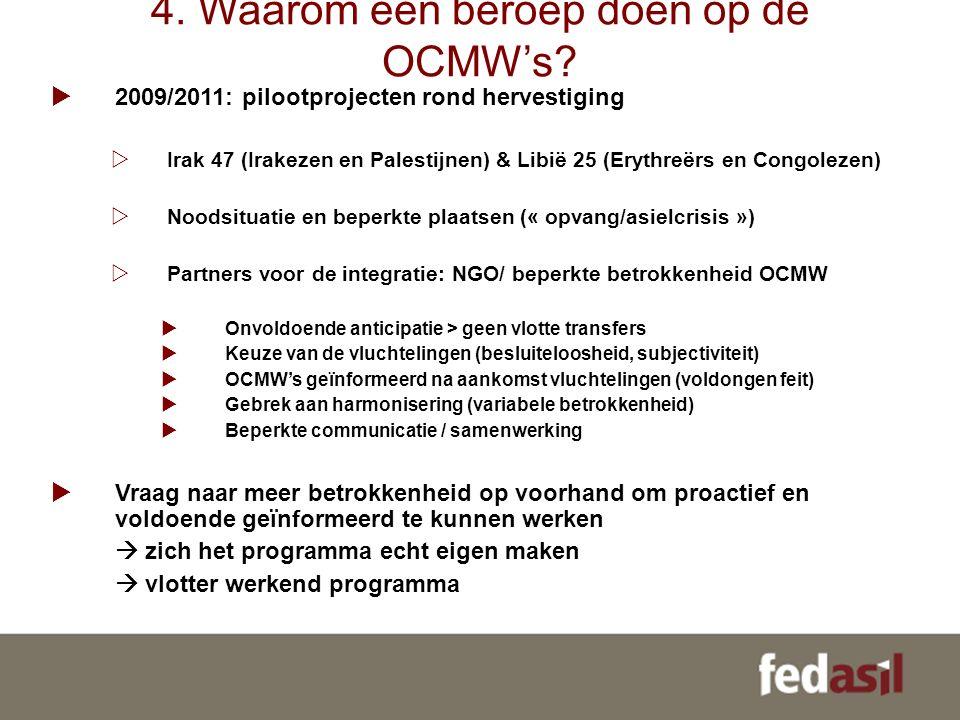 4. Waarom een beroep doen op de OCMW's.