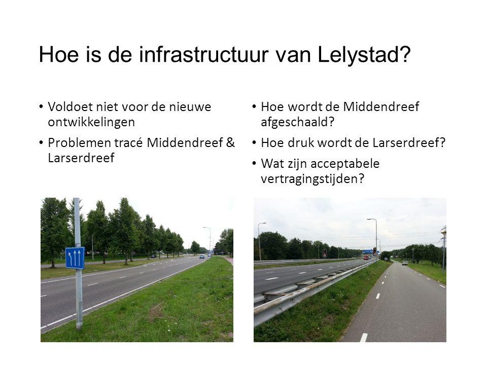 Hoe is de infrastructuur van Lelystad? Voldoet niet voor de nieuwe ontwikkelingen Problemen tracé Middendreef & Larserdreef Hoe wordt de Middendreef a