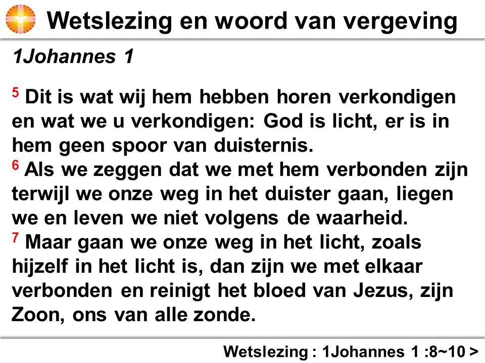 1Johannes 1 8 Als we zeggen dat we de zonde niet kennen, misleiden we onszelf en is de waarheid niet in ons.