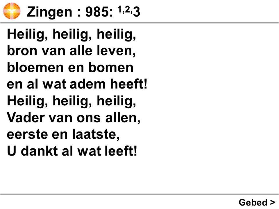 Zingen : Opwekking 407: 1,2,3 >