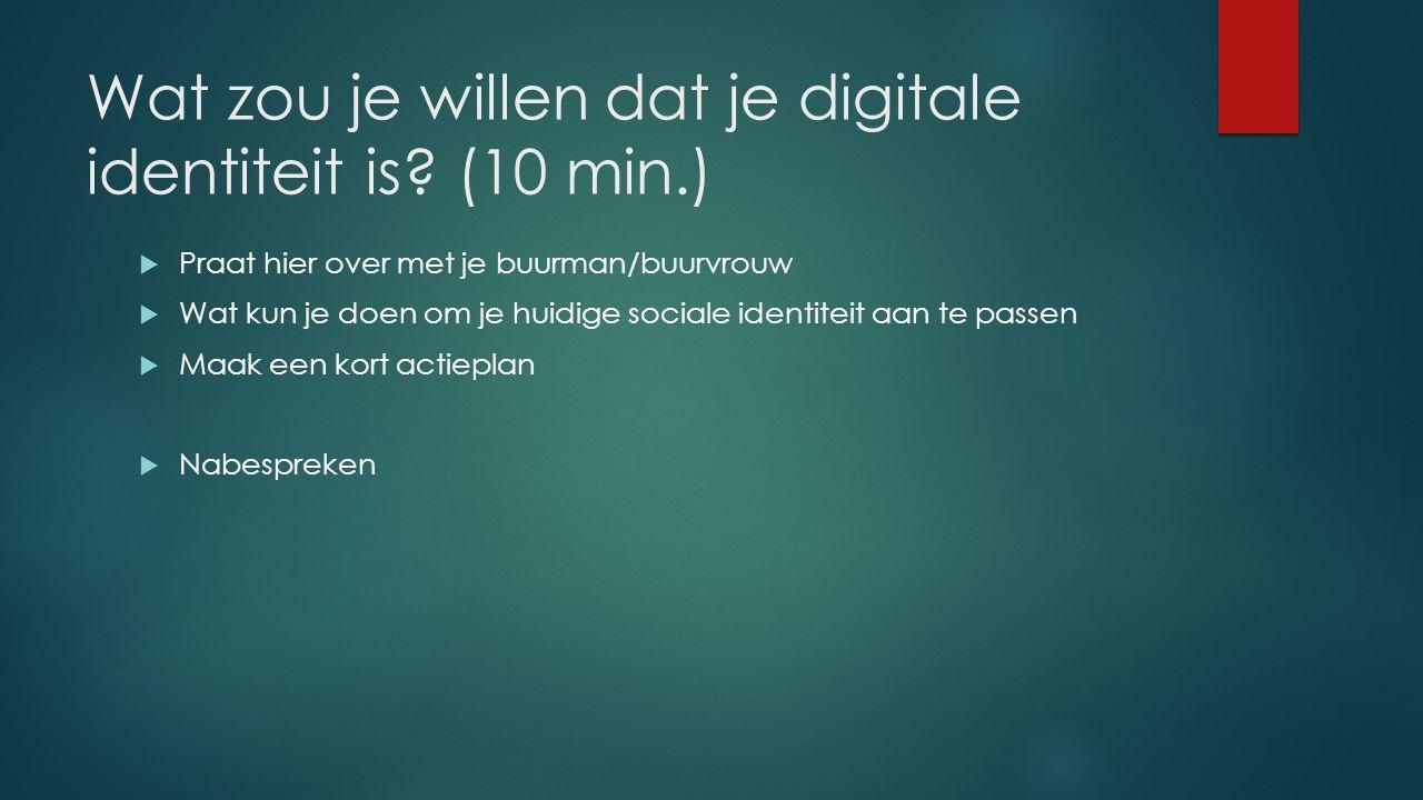 Wat zou je willen dat je digitale identiteit is.