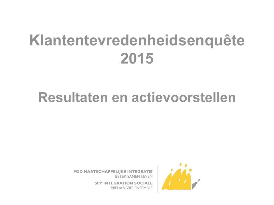 Klantentevredenheidsenquête 2015 Resultaten en actievoorstellen