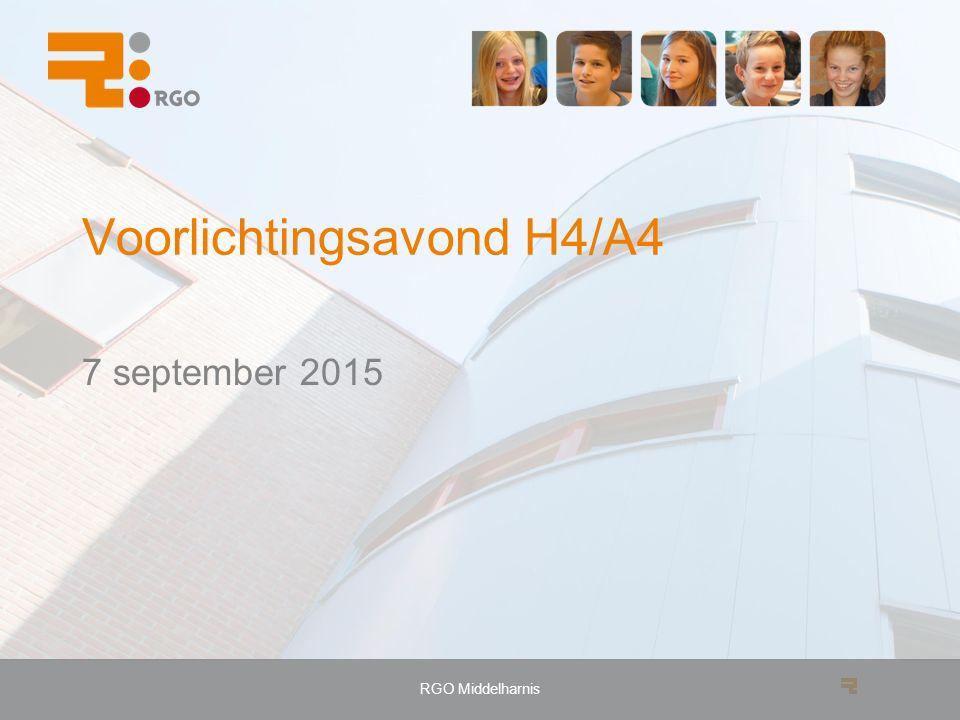 RGO Middelharnis Voorlichtingsavond H4/A4 7 september 2015