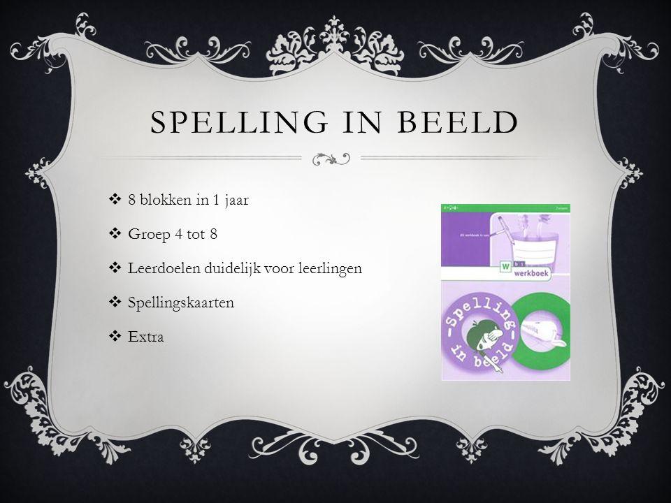 MATERIALEN  Spelling in beeld; werkschrift spelling  Uitlegkaarten