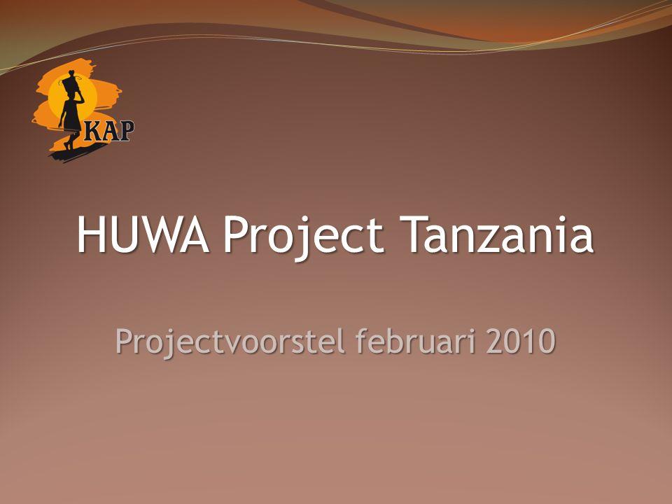 HUWA Project Tanzania Projectvoorstel februari 2010
