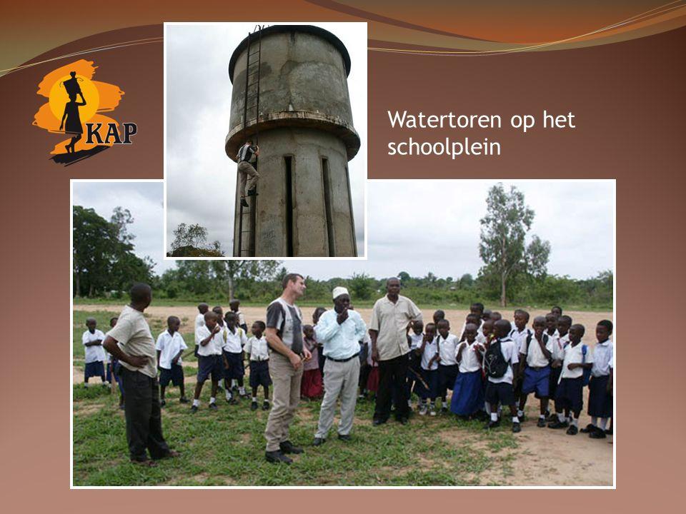Watertoren op het schoolplein