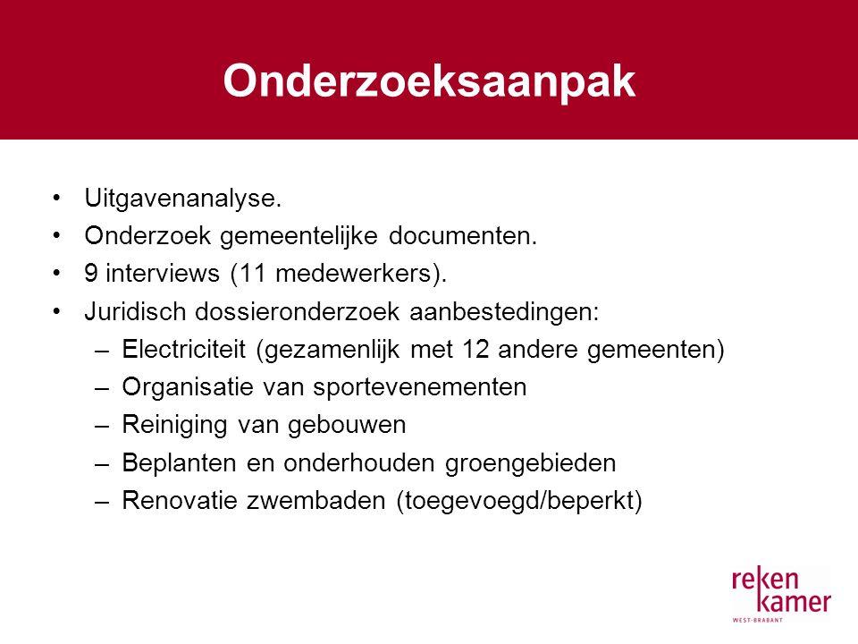 Onderzoeksaanpak Uitgavenanalyse. Onderzoek gemeentelijke documenten.