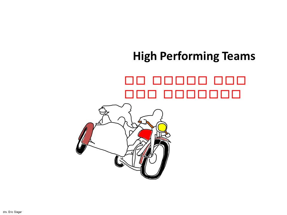 High Performing Teams De Kunst van het Bewegen drs. Eric Slager