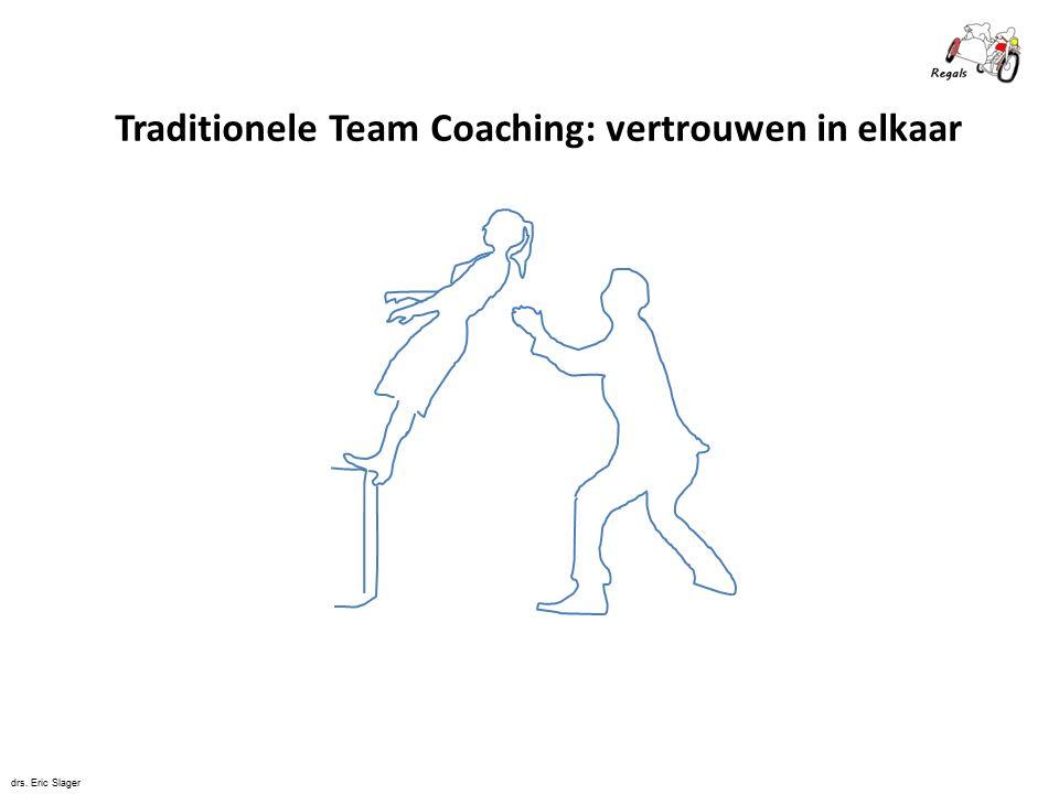 Traditionele Team Coaching: vertrouwen in elkaar drs. Eric Slager