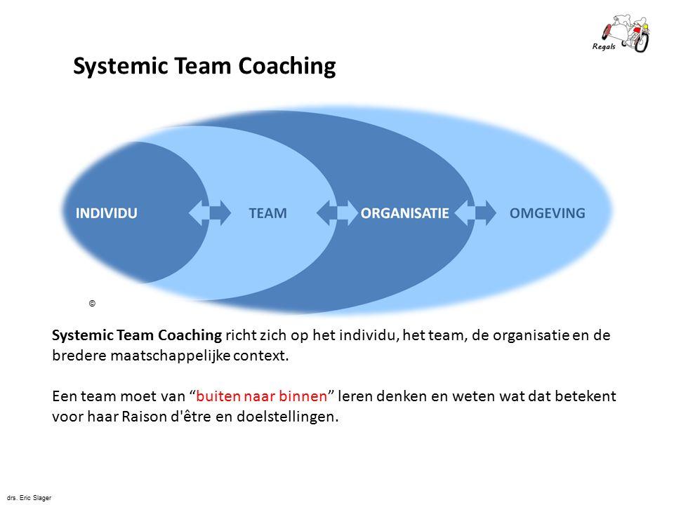 Systemic Team Coaching richt zich op het individu, het team, de organisatie en de bredere maatschappelijke context.