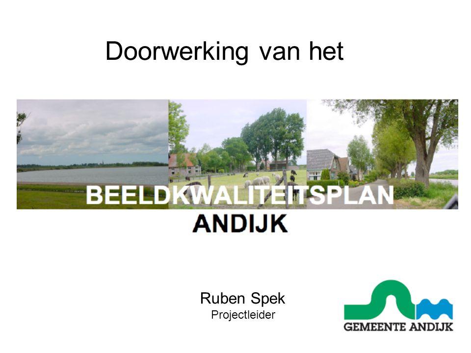 Doorwerking van het Ruben Spek Projectleider