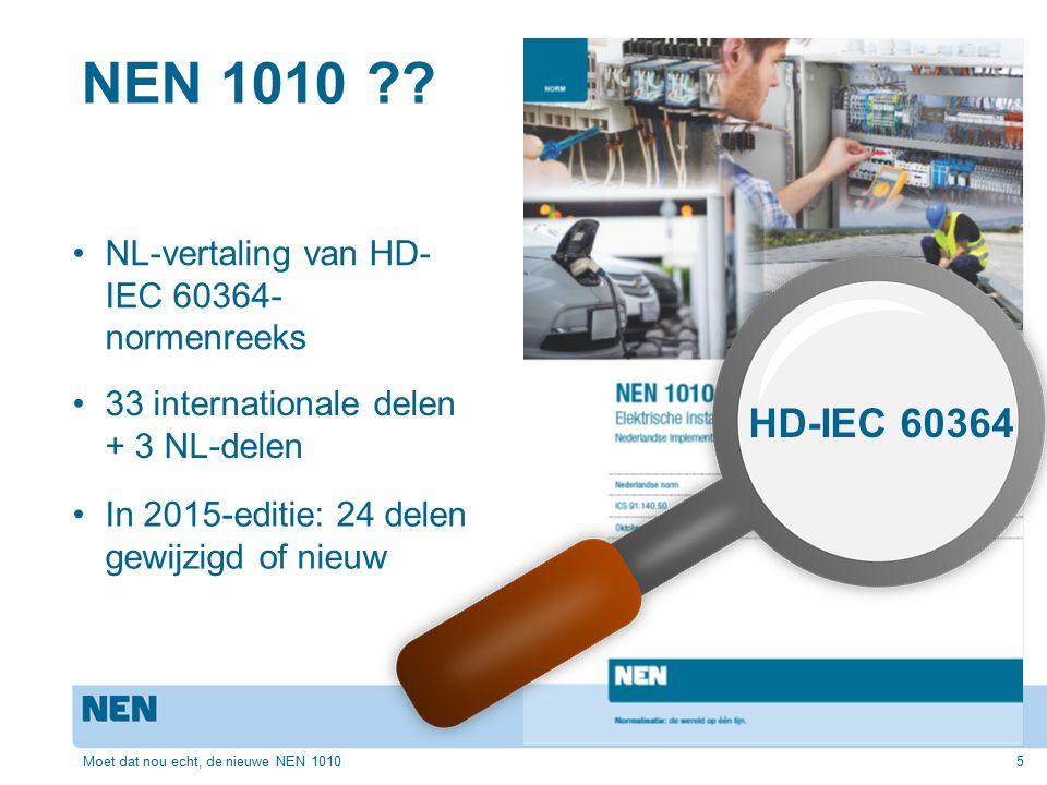 Waarom een nieuwe editie.6 NEN 1010:2015 – The making of Johan van Velthoven; 1 sept.