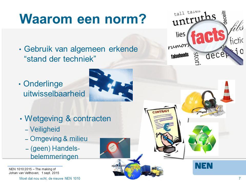 NEN 1010:2015 ?.8 NEN 1010:2015 – The making of Johan van Velthoven; 1 sept.