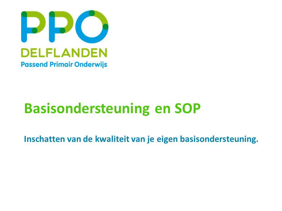 Basisondersteuning en SOP Inschatten van de kwaliteit van je eigen basisondersteuning.