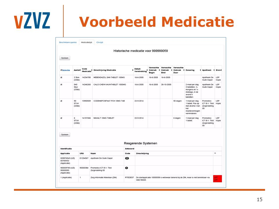 Voorbeeld Medicatie 15