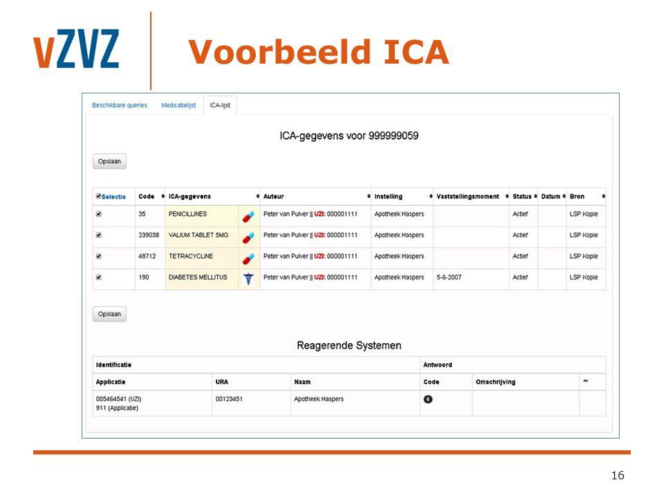 Voorbeeld ICA 16
