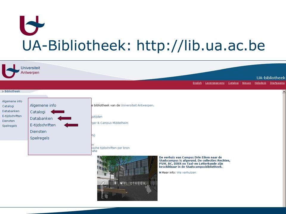 5 UA-Bibliotheek: http://lib.ua.ac.be