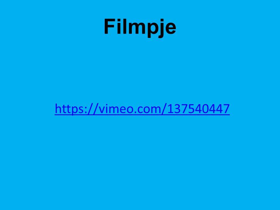 Filmpje https://vimeo.com/137540447