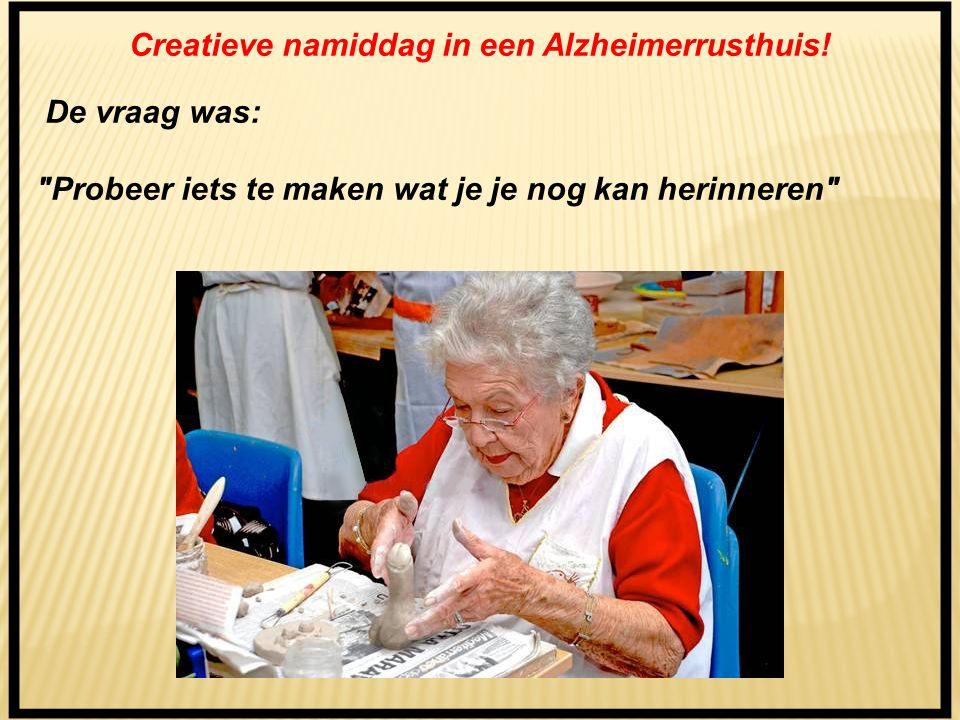 Creatieve namiddag in een Alzheimerrusthuis.
