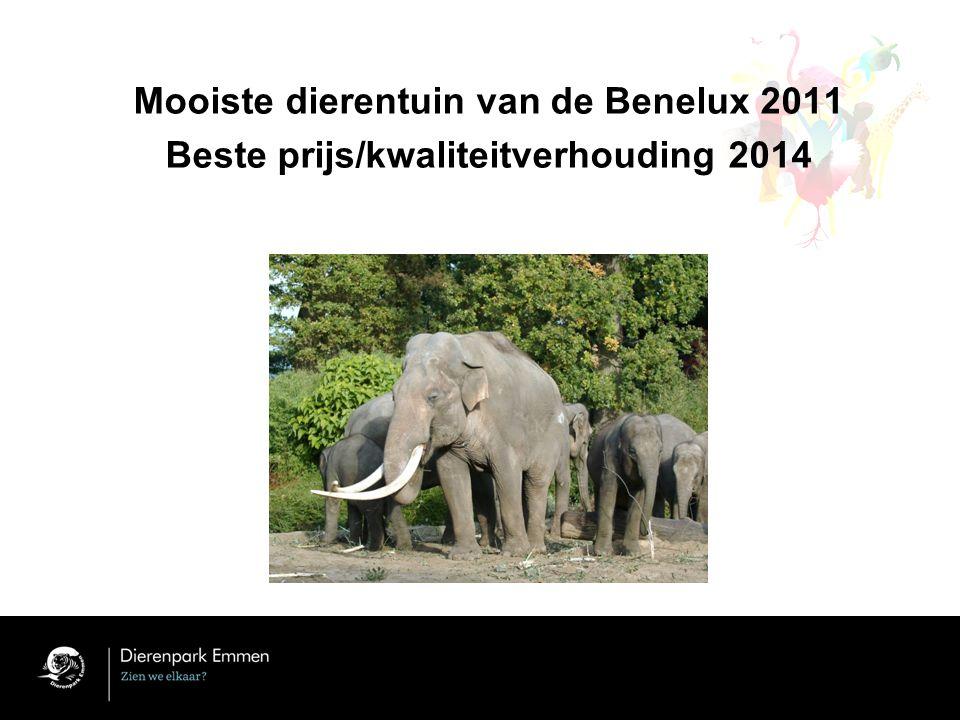 Mooiste dierentuin van de Benelux 2011 Beste prijs/kwaliteitverhouding 2014