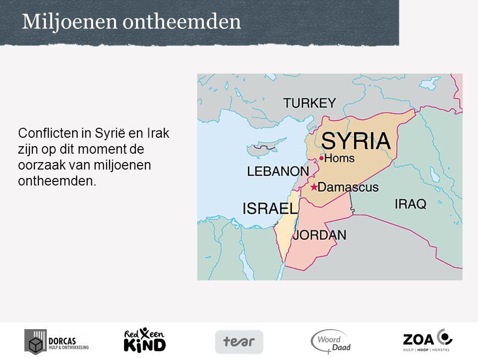 97% van de Syrische vluchtelingen wordt opgevangen in het Midden-Oosten zelf.