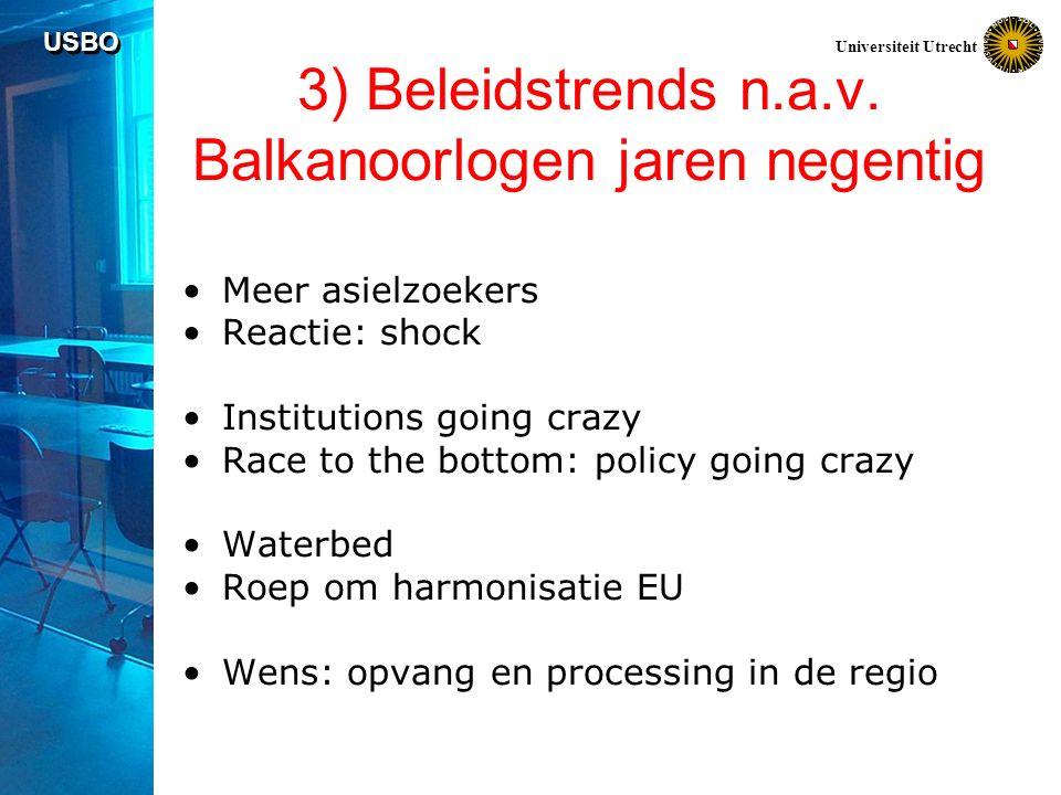 USBO Universiteit Utrecht 3) Beleidstrends n.a.v.