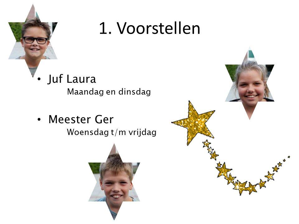 Juf Laura Maandag en dinsdag Meester Ger Woensdag t/m vrijdag 1. Voorstellen