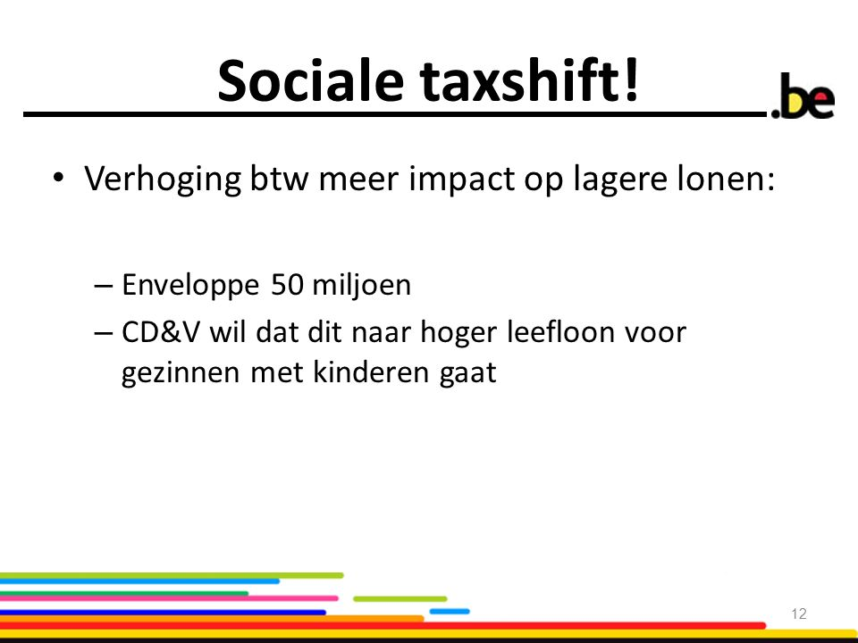 Sociale taxshift.