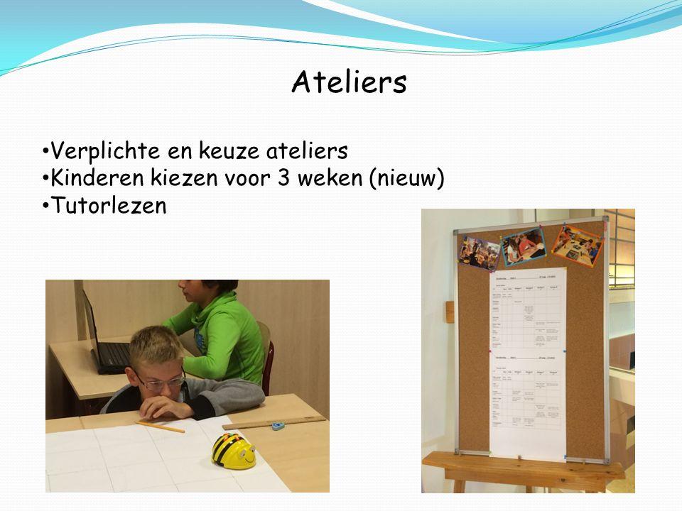 Ateliers Verplichte en keuze ateliers Kinderen kiezen voor 3 weken (nieuw) Tutorlezen