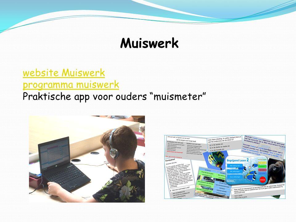 """Muiswerk website Muiswerk programma muiswerk Praktische app voor ouders """"muismeter"""""""