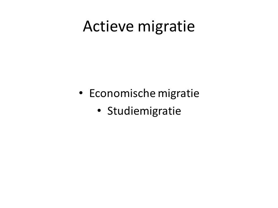 Actieve migratie Economische migratie Studiemigratie
