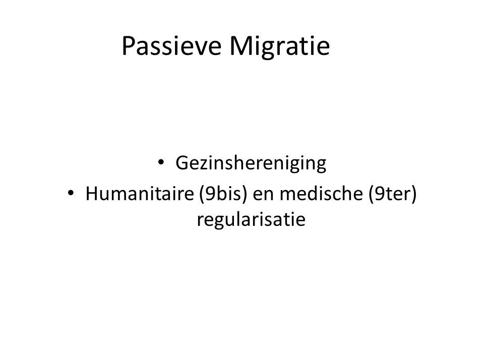 Passieve Migratie Gezinshereniging Humanitaire (9bis) en medische (9ter) regularisatie