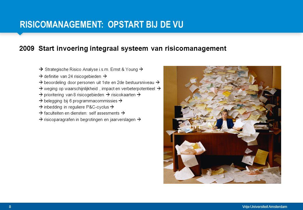 19 Vrije Universiteit Amsterdam HOE HEEFT DE VU HET VERDER AANGEPAKT.