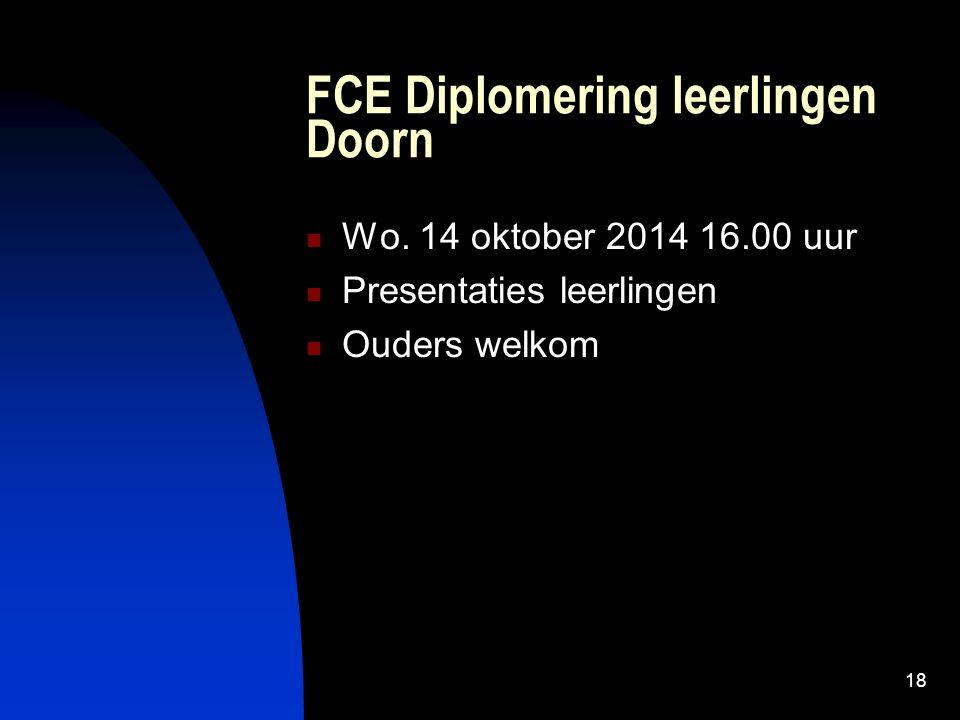 18 FCE Diplomering leerlingen Doorn Wo.