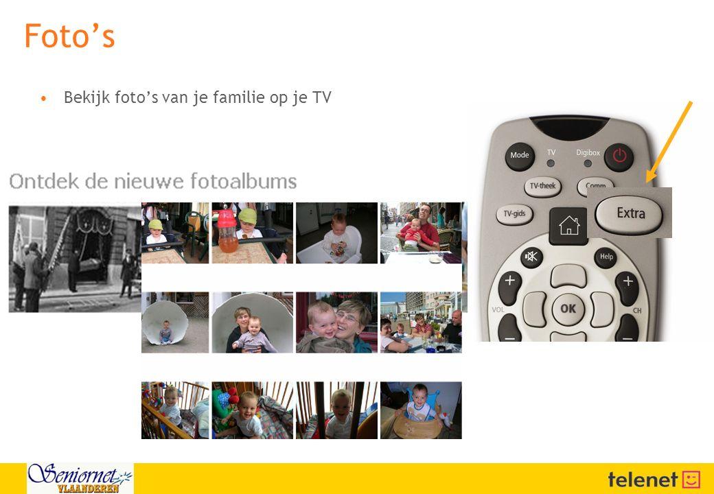 Foto's Bekijk foto's van je familie op je TV
