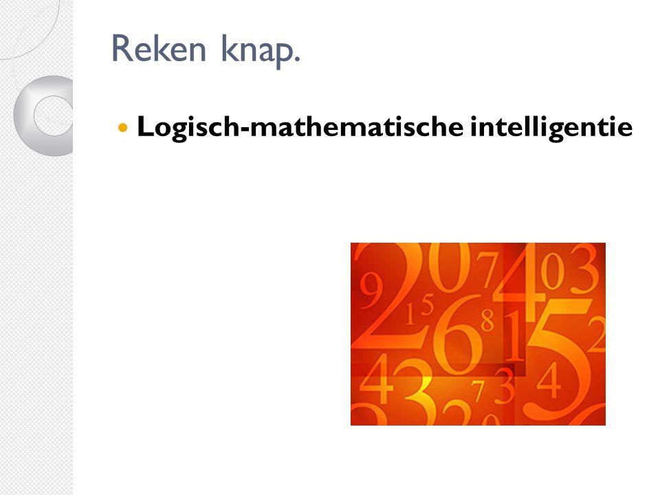 Reken knap. Logisch-mathematische intelligentie