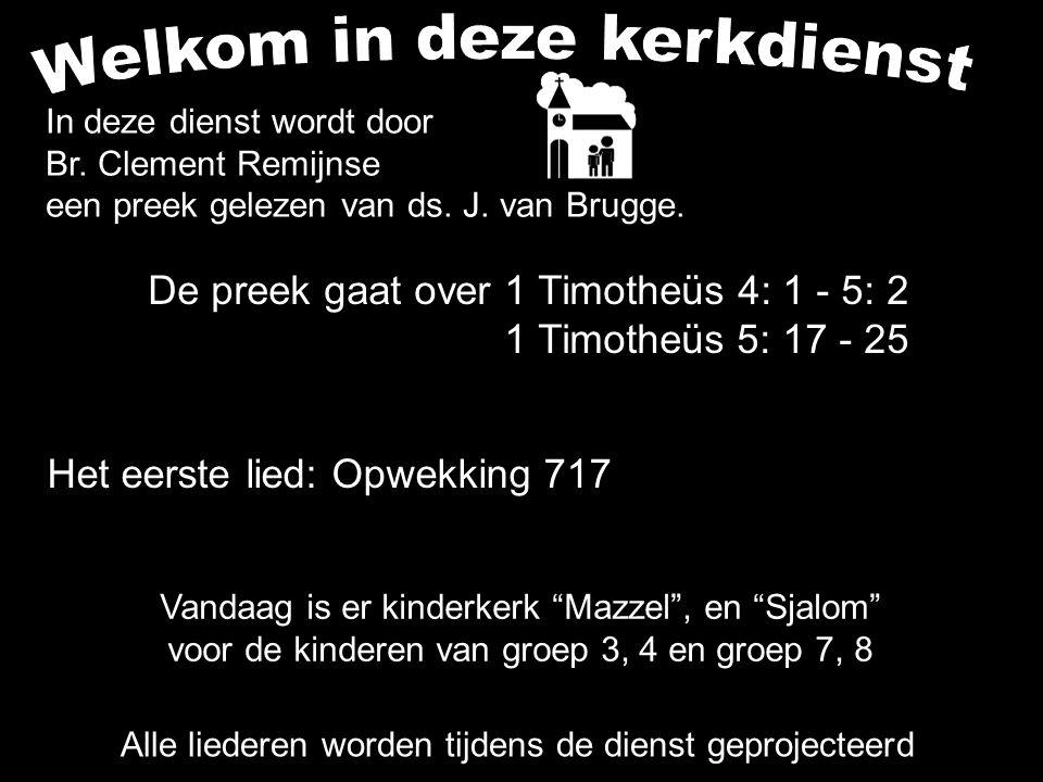 Votum (175b) Zegengroet De zegengroet mogen we beantwoorden met het gezongen amen Zingen: Opwekking 717....