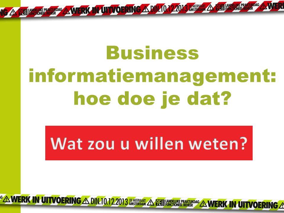 Business informatiemanagement: hoe doe je dat?