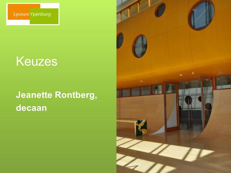 Keuzes Jeanette Rontberg, decaan