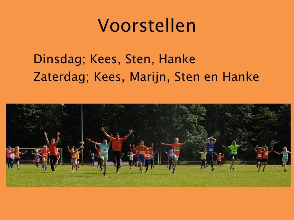 Voorstellen Dinsdag; Kees, Sten, Hanke Zaterdag; Kees, Marijn, Sten en Hanke