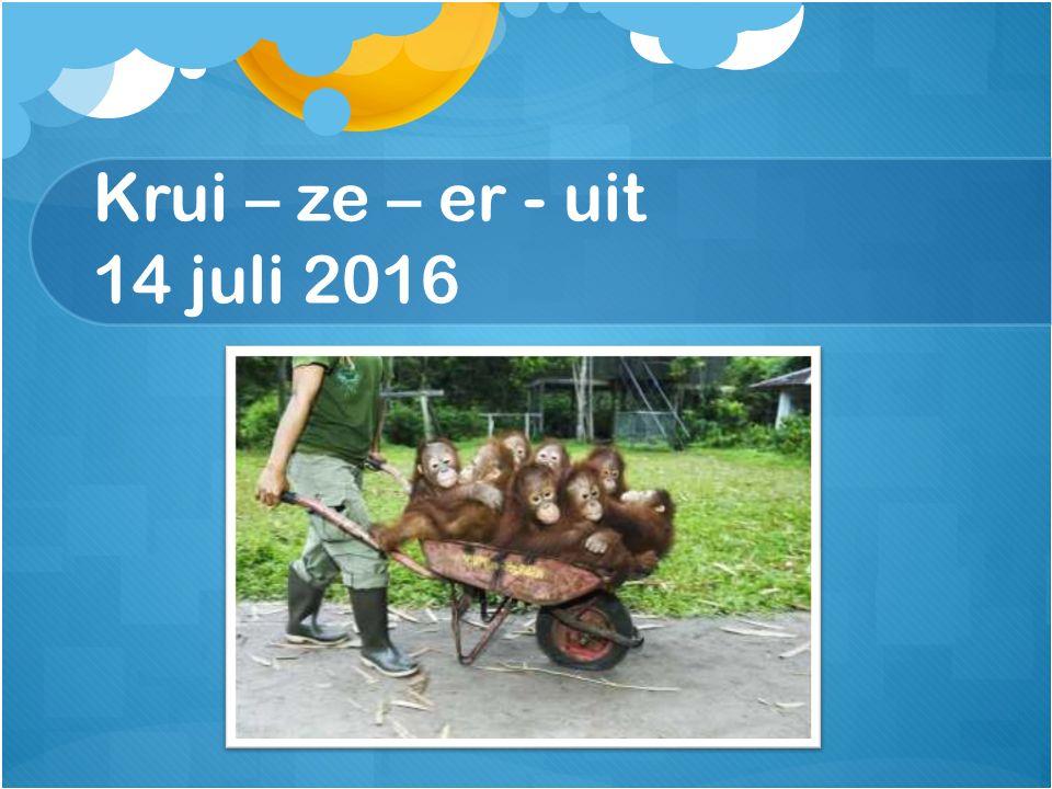 Krui – ze – er - uit 14 juli 2016