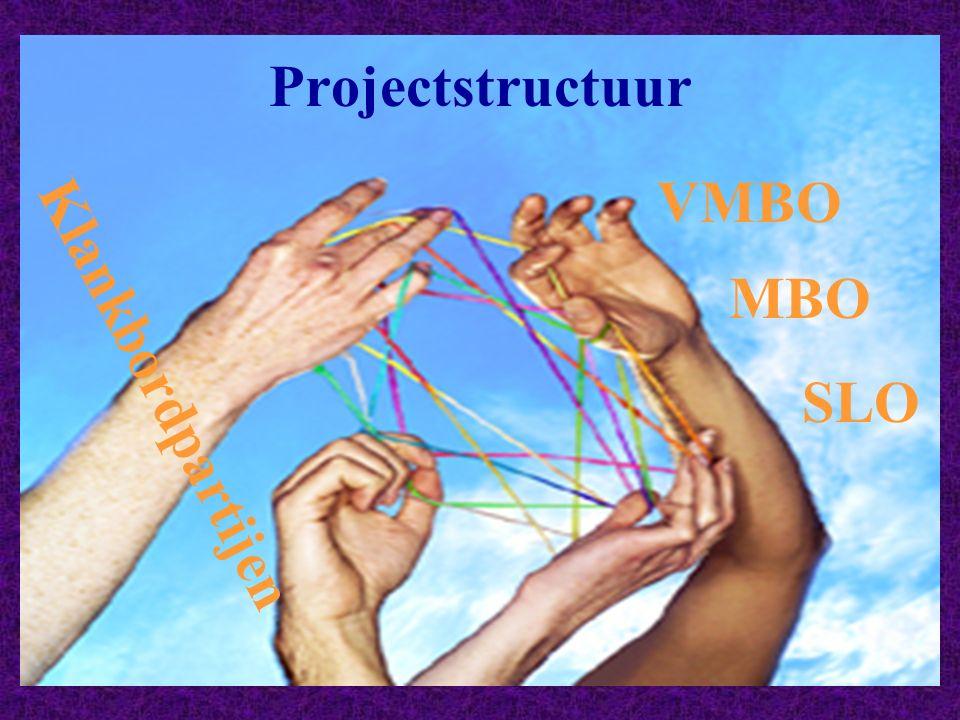 Projectstructuur VMBO MBO SLO Klankbordpartijen