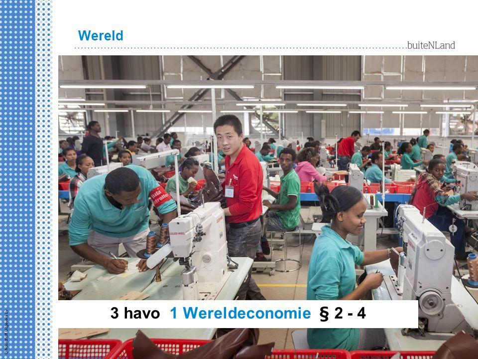 Wereld 3 havo 1 Wereldeconomie § 2 - 4